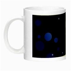 Decorative Dots Pattern Night Luminous Mugs by ValentinaDesign