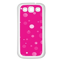 Decorative Dots Pattern Samsung Galaxy S3 Back Case (white) by ValentinaDesign