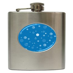 Decorative Dots Pattern Hip Flask (6 Oz) by ValentinaDesign