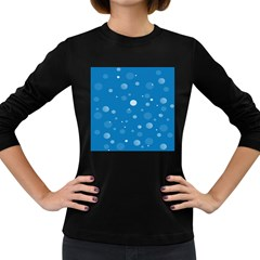 Decorative Dots Pattern Women s Long Sleeve Dark T Shirts by ValentinaDesign