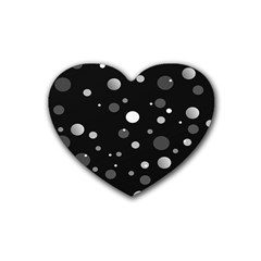 Decorative Dots Pattern Heart Coaster (4 Pack)  by ValentinaDesign