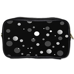 Decorative Dots Pattern Toiletries Bags 2 Side