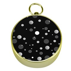 Decorative Dots Pattern Gold Compasses by ValentinaDesign