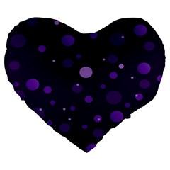 Decorative Dots Pattern Large 19  Premium Heart Shape Cushions by ValentinaDesign