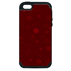 Decorative Dots Pattern Apple Iphone 5 Hardshell Case (pc+silicone)