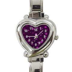 Decorative Dots Pattern Heart Italian Charm Watch by ValentinaDesign
