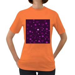 Decorative Dots Pattern Women s Dark T Shirt by ValentinaDesign