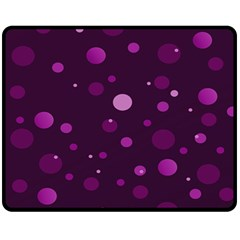 Decorative Dots Pattern Fleece Blanket (medium)  by ValentinaDesign