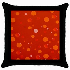 Decorative Dots Pattern Throw Pillow Case (black) by ValentinaDesign