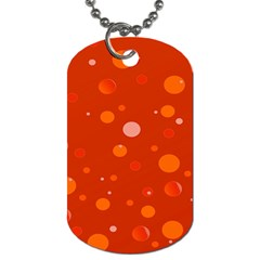 Decorative Dots Pattern Dog Tag (two Sides) by ValentinaDesign