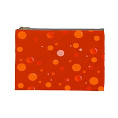 Decorative Dots Pattern Cosmetic Bag (large)  by ValentinaDesign