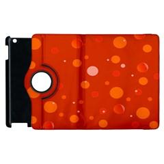 Decorative Dots Pattern Apple Ipad 2 Flip 360 Case by ValentinaDesign