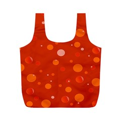 Decorative Dots Pattern Full Print Recycle Bags (m)  by ValentinaDesign