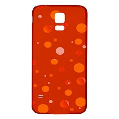 Decorative Dots Pattern Samsung Galaxy S5 Back Case (white) by ValentinaDesign