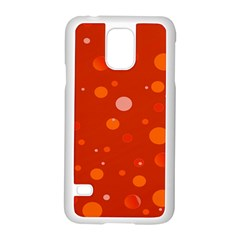 Decorative Dots Pattern Samsung Galaxy S5 Case (white) by ValentinaDesign