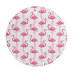 Pink Flamingos Pattern Ornament (round)