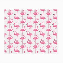 Pink Flamingos Pattern Small Glasses Cloth (2 Side) by Nexatart