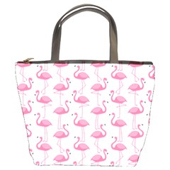 Pink Flamingos Pattern Bucket Bags