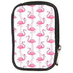 Pink Flamingos Pattern Compact Camera Cases by Nexatart