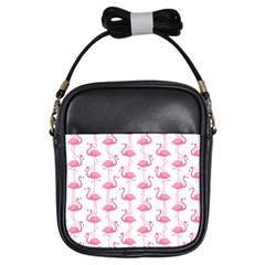 Pink Flamingos Pattern Girls Sling Bags by Nexatart