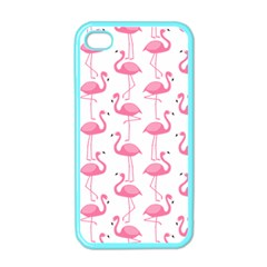 Pink Flamingos Pattern Apple Iphone 4 Case (color) by Nexatart