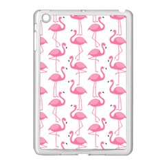 Pink Flamingos Pattern Apple Ipad Mini Case (white) by Nexatart