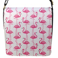 Pink Flamingos Pattern Flap Messenger Bag (s)