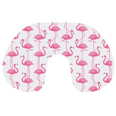 Pink Flamingos Pattern Travel Neck Pillows by Nexatart