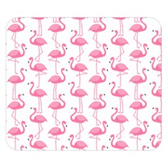 Pink Flamingos Pattern Double Sided Flano Blanket (small)