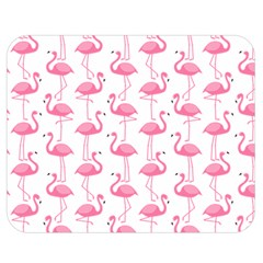 Pink Flamingos Pattern Double Sided Flano Blanket (medium)  by Nexatart