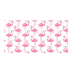 Pink Flamingos Pattern Satin Wrap