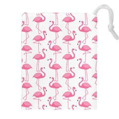 Pink Flamingos Pattern Drawstring Pouches (xxl)