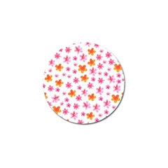 Watercolor Summer Flowers Pattern Golf Ball Marker (4 Pack) by TastefulDesigns