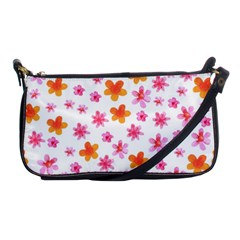 Watercolor Summer Flowers Pattern Shoulder Clutch Bags by TastefulDesigns