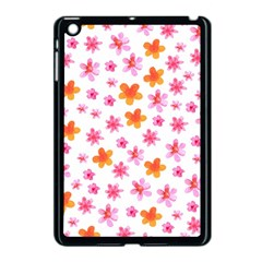 Watercolor Summer Flowers Pattern Apple Ipad Mini Case (black) by TastefulDesigns