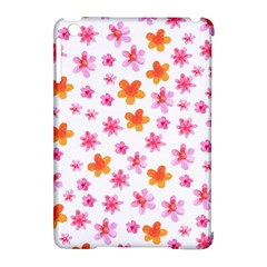Watercolor Summer Flowers Pattern Apple Ipad Mini Hardshell Case (compatible With Smart Cover) by TastefulDesigns