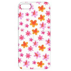Watercolor Summer Flowers Pattern Apple Iphone 5 Hardshell Case With Stand by TastefulDesigns
