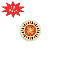 Yin Yang Sunshine 1  Mini Buttons (10 Pack)  by linceazul
