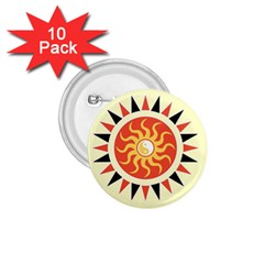 Yin Yang Sunshine 1 75  Buttons (10 Pack) by linceazul