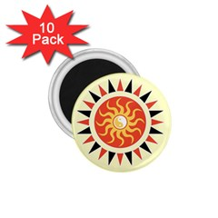 Yin Yang Sunshine 1 75  Magnets (10 Pack)  by linceazul