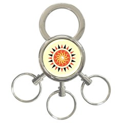 Yin Yang Sunshine 3 Ring Key Chains by linceazul