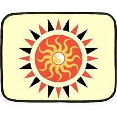 Yin Yang Sunshine Fleece Blanket (mini) by linceazul