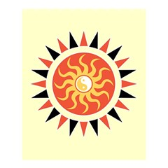 Yin Yang Sunshine Shower Curtain 60  X 72  (medium)  by linceazul