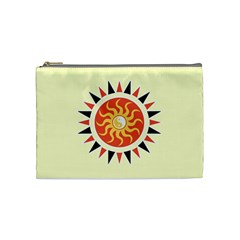 Yin Yang Sunshine Cosmetic Bag (medium)  by linceazul