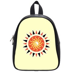 Yin Yang Sunshine School Bags (small)  by linceazul