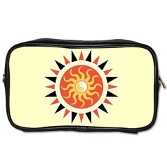 Yin Yang Sunshine Toiletries Bags by linceazul