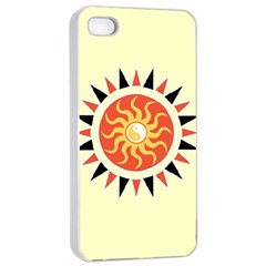 Yin Yang Sunshine Apple Iphone 4/4s Seamless Case (white) by linceazul