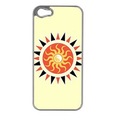 Yin Yang Sunshine Apple Iphone 5 Case (silver) by linceazul