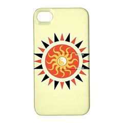 Yin Yang Sunshine Apple Iphone 4/4s Hardshell Case With Stand by linceazul