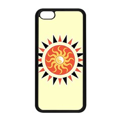 Yin Yang Sunshine Apple Iphone 5c Seamless Case (black) by linceazul